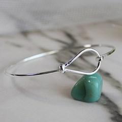 물방울 실버 뱅글 water drop silver bangle
