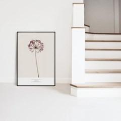 메탈 북유럽 식물 꽃 인테리어 포스터 액자 허브 차이브