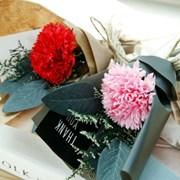 (선물포장)미니꽃다발 소프카네이션