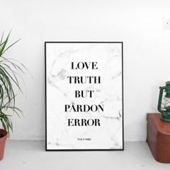 LOVE TRUTH BUT PARDON ERROR 북유럽 마블 포스터,액자