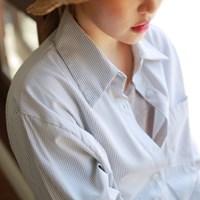 Stripe cuffs shirt
