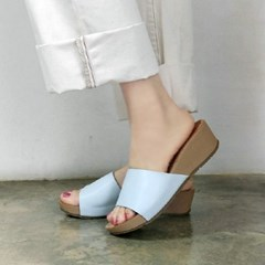 Simple band 4.5cm wedge slippers_KM16s208