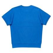 PREPPY LOGO 1/2 SWEAT SHIRT BLUE
