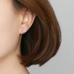 [925 실버]아이스 큐빅 귀걸이=ER285