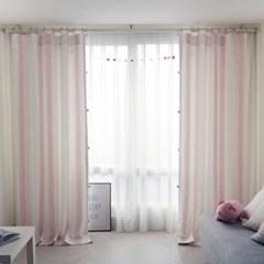 마룬 암막커튼 핑크
