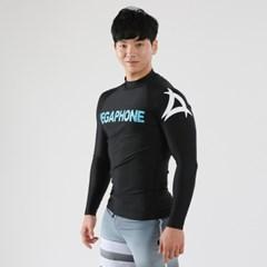 [남성 래쉬가드] Basic Logo Rashguard - Black/White