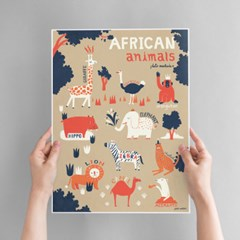 African Animals Art poster