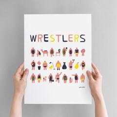 Wrestlers Art poster