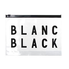 블랑블랙 PVC 납작 지퍼백
