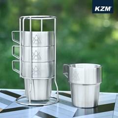 카즈미 더블 머그컵 4Pset K9T3K001 / 캠핑컵 캠핑용품 캠핑머그