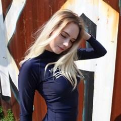 [MEGAPHONE] Aileen women Rashguard - Navy