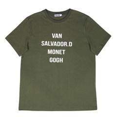 Lettering T-shirts_Khaki