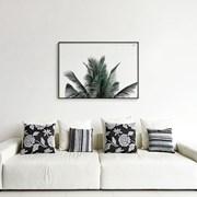 메탈 북유럽 야자수 식물 인테리어 포스터 액자 에버그린