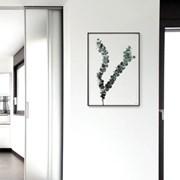 메탈 북유럽 식물 인테리어 포스터 액자 그린 유칼립투스
