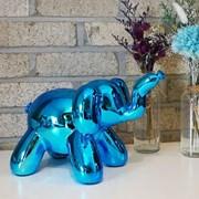 Balloon Elephant MoneyBox Blue