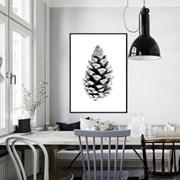북유럽 대형 식물액자 포스터 보타니컬 솔방울