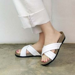 Wide cross band strap 3.5cm up slippers_KM16s287