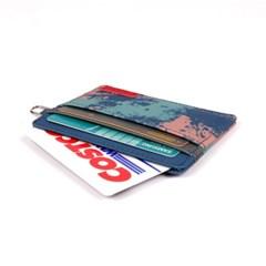 [자누] 페인팅 카드지갑 - 네이비