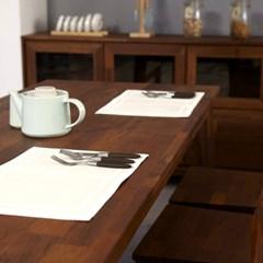 밸런스가구 클린트 멀바우 원목 6인용 식탁 벤치 세트