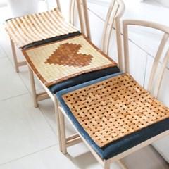[한일카페트] 디자인 마작 대나무 방석 베이직
