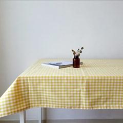 옐로우체크 테이블보