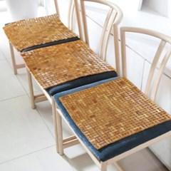 [한일카페트] 디자인 마작 대나무 방석 트윈스