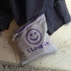 [킵캄]smile pouch_grey/m size
