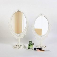 에바-아이보리 스텐딩 매화거울