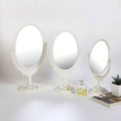 에바-아이보리 스텐딩 장미거울