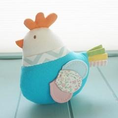 (태교바느질DIY)유기농 닭 애착인형 만들기