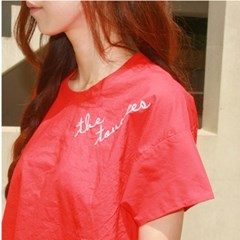 Cotten pullover T-shirt _ red
