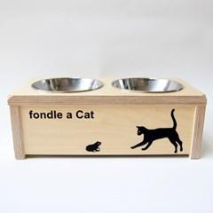 [포코] 자작나무 원목 고양이 식탁 2구
