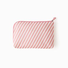 [10x10]PINK STRIPE CABLE POUCH size L 여행용 케이블 파우치