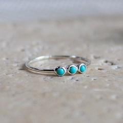 3 터키석 슬림 반지(12월탄생석)3 turquoise slim ring
