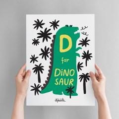 D for Dinosaur Art poster