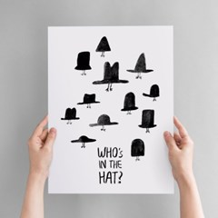Who's in the HAT? Art poster