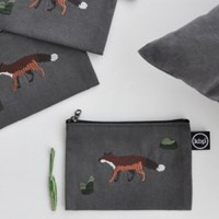 mr.fox & cactus pouch