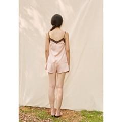 [closingment] color blocked camisole set - rose quartz