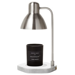 PLUTO5 천연대리석 빛조절 캔들워머-니켈사틴