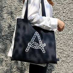 alphabet rope linen bag