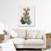 캔버스 보타니컬 아트 식물 그림 대형 액자 선인장 꽃