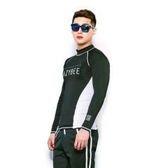 1101 남성 래쉬가드 - Black/White