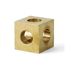 Cube Candleholder - Brass