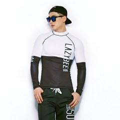 1108 남성 래쉬가드 - White/Black