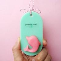 돌고래 비누-핑크
