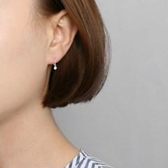 [925실버]큐빅 미니링 귀걸이=ER2001