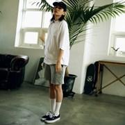 [매스노운] Unisex Sweat Short Pants  FRAYED  MUSSP003-GR