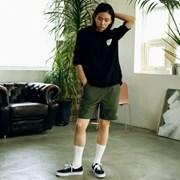 [매스노운] Light Grayish Short Pants  LOGO POCKET  MUSSP001-GN