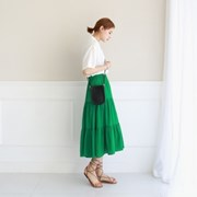 Cancan linen long skirt