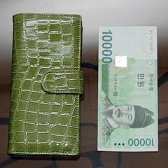 악어패턴 카드장지갑